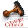 Immigration Canad- approved — Stock Photo #39968271