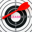 Lease target concept — Stock Photo #39968703