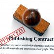 Stock Photo: Publishing contract
