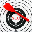 Seo target concept — Stock Photo