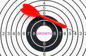 Growth target concept — Stock Photo