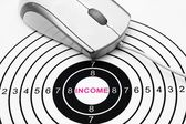 Web income target — Stock Photo