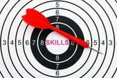 Skills target concept — Stock Photo