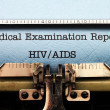 Medical report - HIV AIDS — Foto Stock #40540445