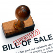 Bill of sale - approved — Stock Photo