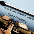 Stock Photo: Medical report - eating disorder