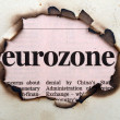 Stock Photo: Eurozone on paper hole