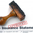 Insurance form - approved — Stock Photo