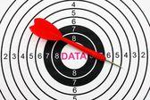 Data target — Stock Photo