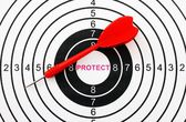 Protect target concept — Stock Photo