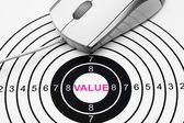 Value target — Stock Photo