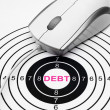 Debt target — Stock Photo #40784513