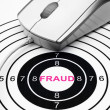Web fraud target concept — Stock Photo