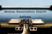 Medical report - Asthma — Stock Photo