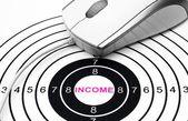 Web income target — Zdjęcie stockowe