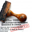 Immigration Canad- approved — Stock Photo #41023867