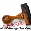 Stock Photo: Health coverage - approved