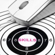 Stock Photo: Skills target