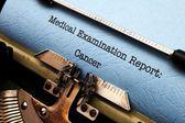 Cancer report — Stockfoto