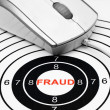 Stock Photo: Fraud target