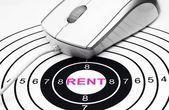Rent target — Stock Photo