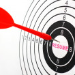 Stock Photo: Resume target