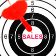 Sales target — Stock Photo
