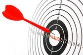 Bedrägeri mål — Stockfoto