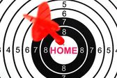 Home target — Stock Photo