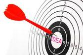 Idea target — Foto de Stock
