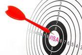 Visa target — Foto de Stock