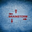 Stock Photo: Brainstorm maze concept