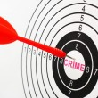 Stock Photo: Crime target