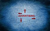 Advertising maze concept — Stock Photo