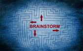 Brainstorm maze concept — Stock Photo