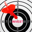 Invest target concept — Stock Photo