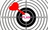 Plan target — Stock Photo
