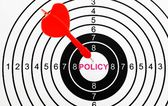 Policy target — Stockfoto