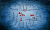 Yes or no maze concept — Stok fotoğraf