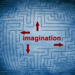 Stock Photo: Imagination maze concept