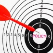 Stock Photo: Policy target