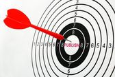 Publish target — Stock Photo