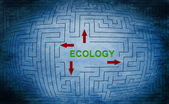 Ecology maze concept — Stock Photo