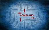 Homeland maze — Stock Photo