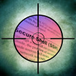 Web secure target — Stock Photo