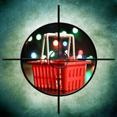 Shopping target — Stock Photo