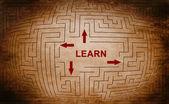 Learn maze concept — Stock Photo
