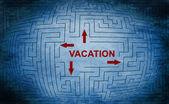 Vacation maze concept — Stockfoto