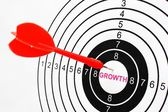 Growth target — Stock Photo