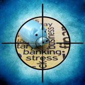 银行压力目标 — 图库照片
